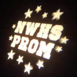 Monogram Lighting for School Events, Proms and Events
